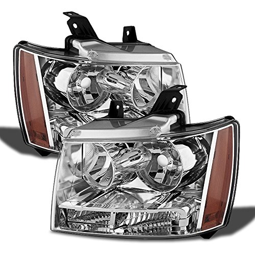 ACANII - For 2007-2014 Chevy Avalanche/Suburban/Tahoe Headlights Lamps Replacement Driver + Passenger Side