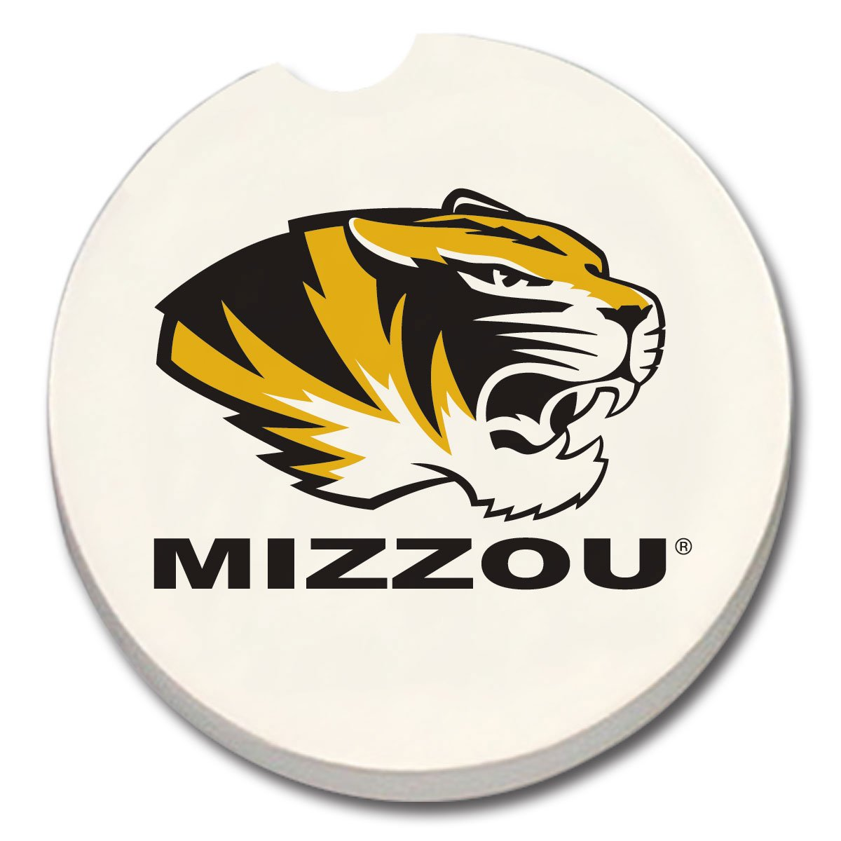NCAA Missouri Tigers Absorbent Car Coaster 1 COUNT