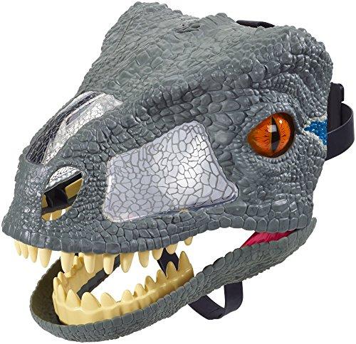 Moving Jaw Mask - Jurassic World Chomp 'N Roar Velociraptor Blue Mask
