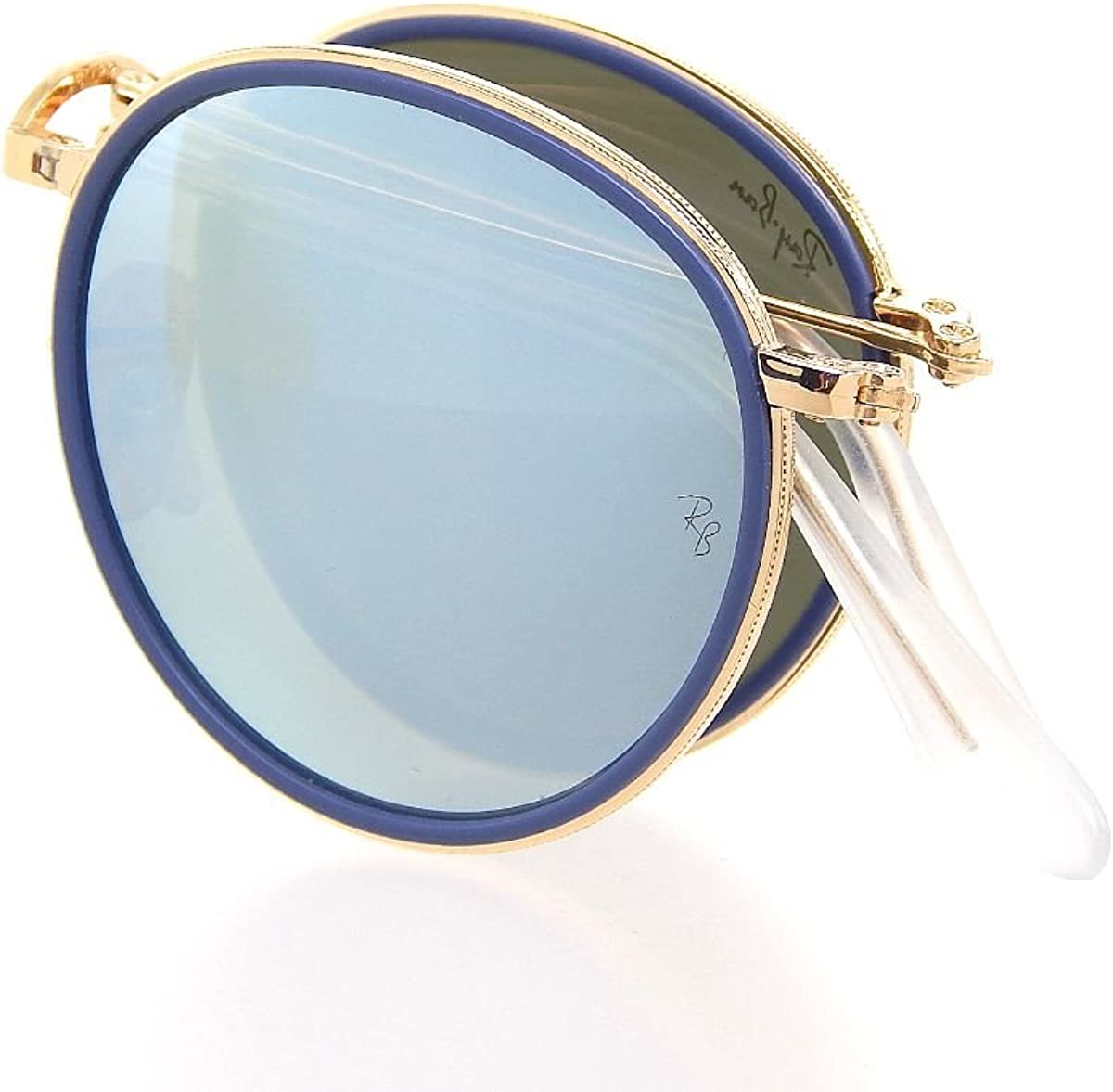 ray ban round metal sunglasses gold