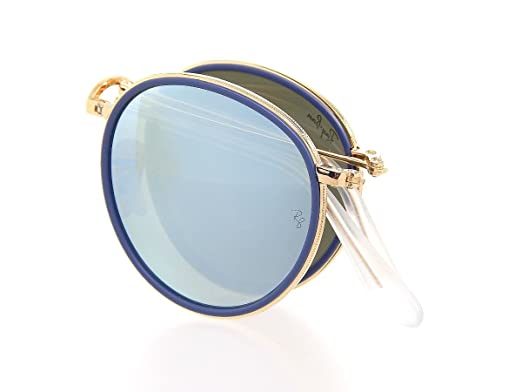 586f8c0c71532 Image Unavailable. Image not available for. Color  New Ray Ban Round RB3517  001 30 Gold Silver Flash 51mm Sunglasses