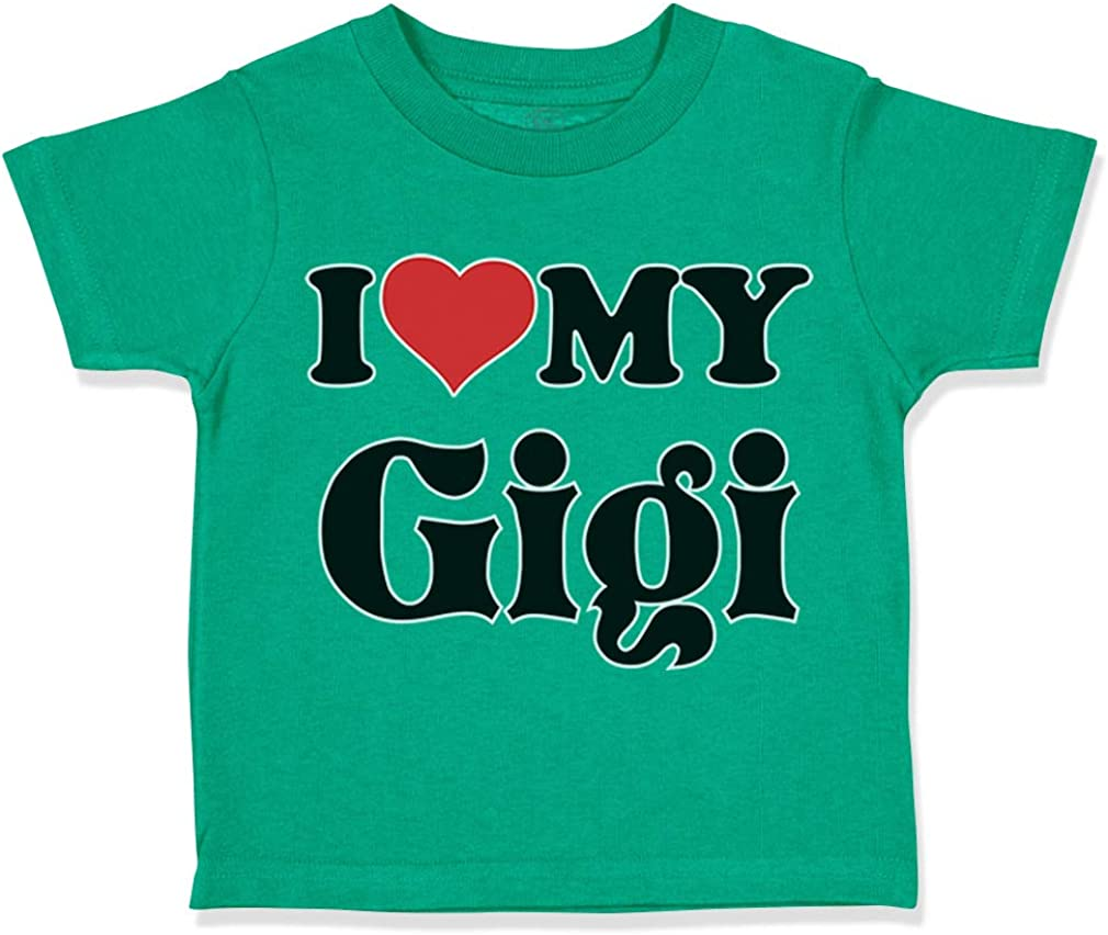 Custom Toddler T-Shirt I Heart My Gigi Grandma Grandmother Boy /& Girl Clothes