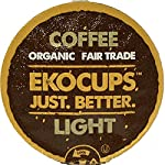 EKOCUPS Artisan Organic Light Gourmet Coffee, medium roast, in Recyclable Single Serve Cups for Keurig K-cup Brewers, 40 count made by EkoCups