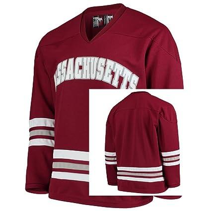5315458f5 Anfu Custom Men s College Jersey UMass Minutemen Replica Hockey Jersey S