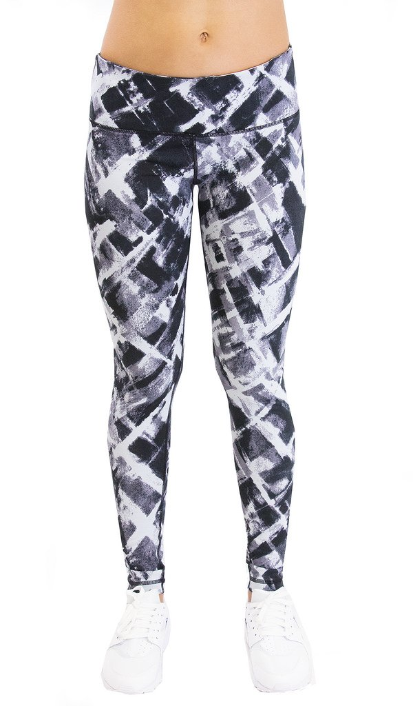 66d5c7d8d0989 Galleon - 90 Degree By Reflex - Performance Activewear - Printed Yoga  Leggings - Print 103 Wild Cross Grey XS