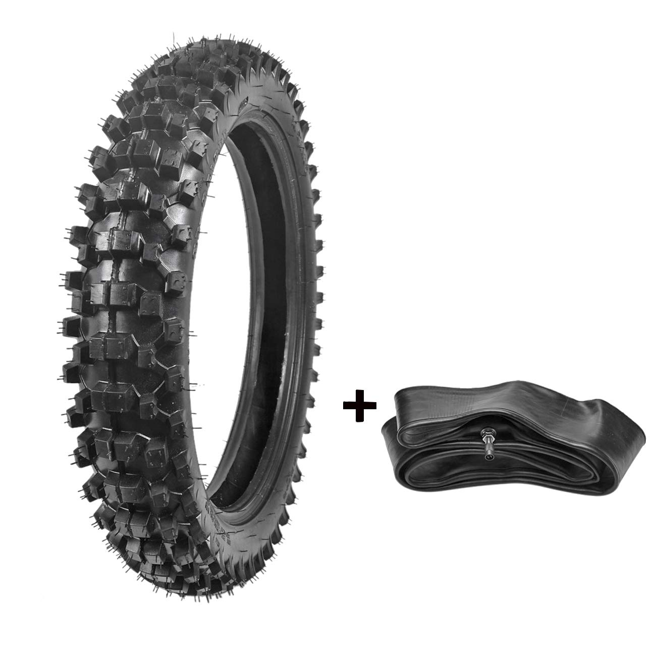 ZXTDR 110/90-18 Off Road Tire and Tube Set for Dirt Pit Bikes Mud Motocross