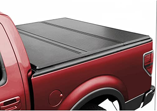 Amazon Com U Drive Auto Tri Fold Hard Solid Tonneau Cover Compatible For 2009 2018 Ford F150 W O Utility Track 8 Feet 96 Inch Bed Automotive