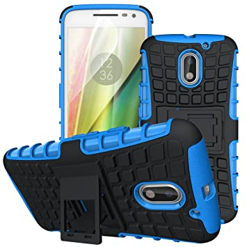 hot sale online 93b18 d96cd Case Collection Heavy Duty Cover for Motorola Moto E3 Case Dual Layer [Drop  Protection] Shockproof Armor with Kickstand Feature for Motorola Moto E3 ...