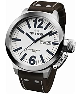 TW Steel Mens CE1006 CEO Brown Leather Strap Watch