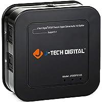 J-Tech Digital Premium Quality SPDIF TOSLINK Digital Optical Audio 1x3 Splitter (One Input 3 Outputs)