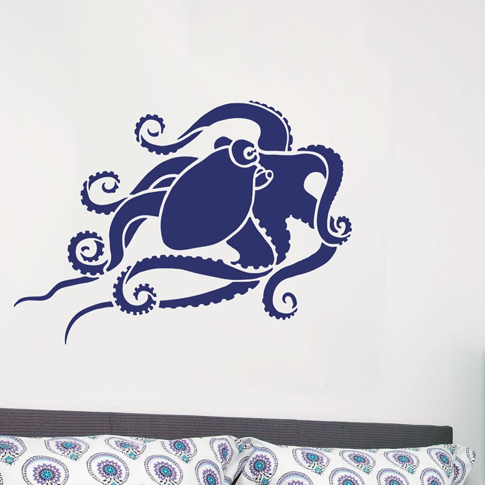Octopus Wall Art Stencil DIY Home Decor Reusable Stencils for Walls LARGE Trendy Wall Stencils for Walls By Cutting Edge Stencils