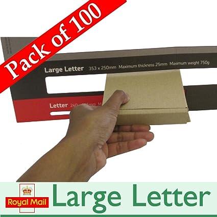 100 x Royal Mail Mini buzón para paquetes cajas de cartón de para envíos postales PiP