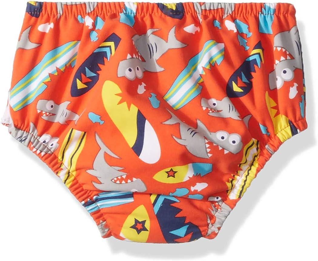 with Side Snaps Orange Shark//Surfboard Swim Time Boys Baby Reusable Swim Diaper UPF 50 Medium 6-12M