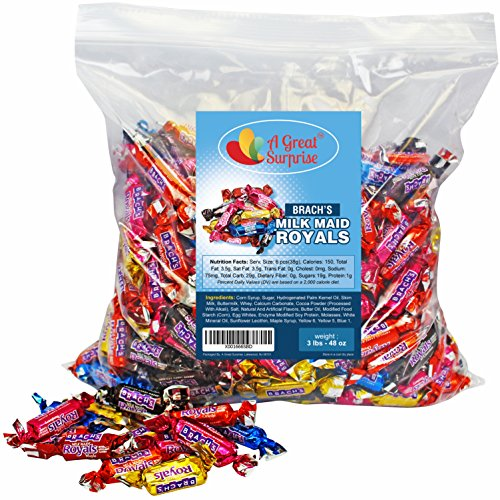 Caramel Candy - Brachs Milkmaid Royals - Brach's Milk Maid Caramels, 3 LB Bulk Candy by A Great Surprise