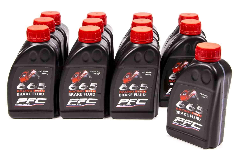 PERFORMANCE FRICTION RH665 DOT 4 500 ml Brake Fluid 12 pc P/N 25-0038 by Performance Friction