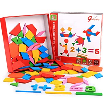 Rompecabezas De Madera, Figuras Geométricas Coloridas Formas ...