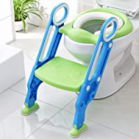 KEPLIN Potty Toilet Seat Adjustable Baby Toddler Kid Toilet Trainer with Step Stool Ladder for Boy and Girl