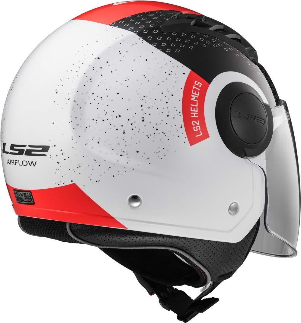 LS2/Casco Moto of562/Airflow Condor blanco//negro//rojo L