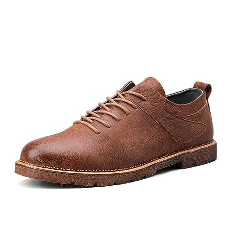HILOTU Zapatos Oxford para Hombre Zapatos De Vestir con ...