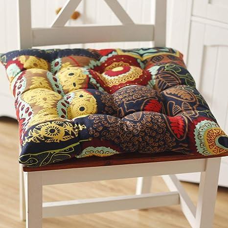 Amazon.com: Cojines cuadrados gruesos para silla, cojines ...