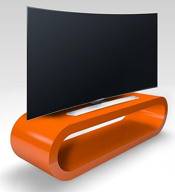 Zespoke Design Retro Noyer Ray/é et Le Caf/é Cerceau Noir Table//Meuble TV Diff/érentes Tailles