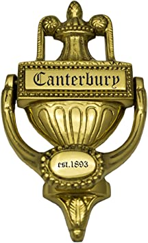 Prestige Plaques Personalized Door Knocker Ornate Design Large Size Polished Brass Engraved 7 25 X 4 Amazon Com
