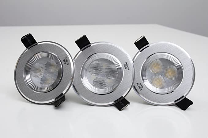 Set de 3 ojos de buey LED orientables y regulables en intensidad