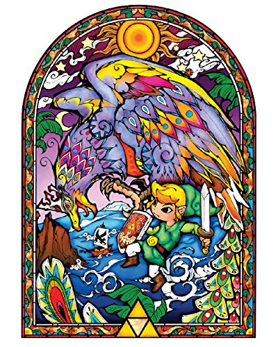 BLIK Zelda Wind Waker Helmaroc Stained Glass Removable Wall Decal | Officially Licensed Nintendo Art | Easy Peel and Stick Design | 26.5 x 37.5 Inches