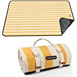 GOOD GAIN Picnic Blanket Waterproof & Sand Proof,Beach Blanket Portable with Carry Strap, XL Large Foldable Picnic Rug…