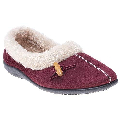 Lotus Heather Mujer Zapatillas Granate: Amazon.es: Zapatos y complementos