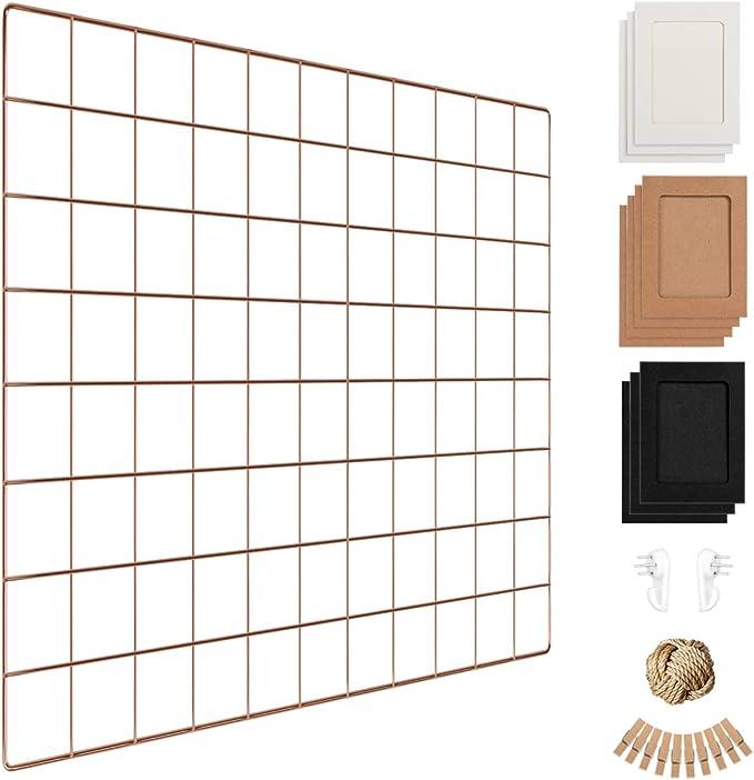 Amazon Com Wall Photo Grid Shelf Wall Hanging Ins Art Display Grid Panel For Decor Storage Metal Wire Notice Boards Memo Board Mesh Tool Organiser Wall Photo Frame 1 Pcs