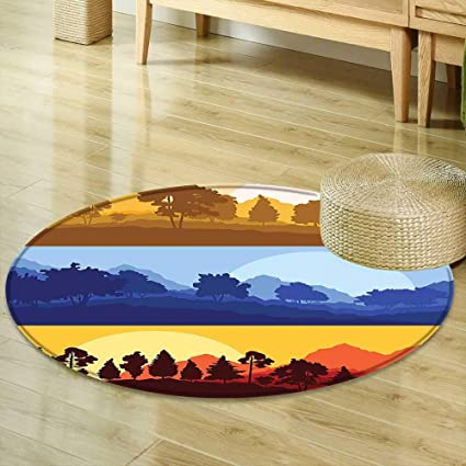Mikihome Dining Room Home Bedroom Carpet Apartment Decor A Panoramic View Of Sunset At Forest Wood