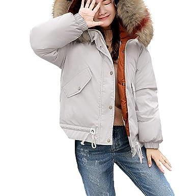 Darringls Abrigos de Invierno Mujer, Chaqueta con Capucha Cuello de Piel Abrigo Slim Fit cálido Parka Espesar Jersey Mujer Invierno Lana: Amazon.es: Ropa y ...