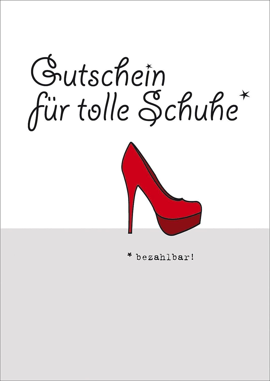 Gutschein für tolle Schuhe - Blanko Gutscheinkarte • auch zum direkt ...