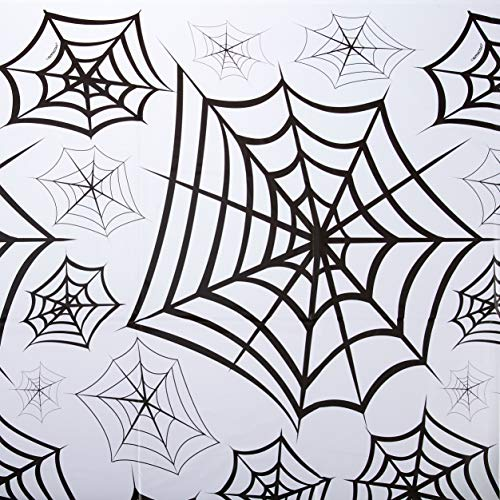 Creepy Spider Web Plastic Table Cover Decoration]()