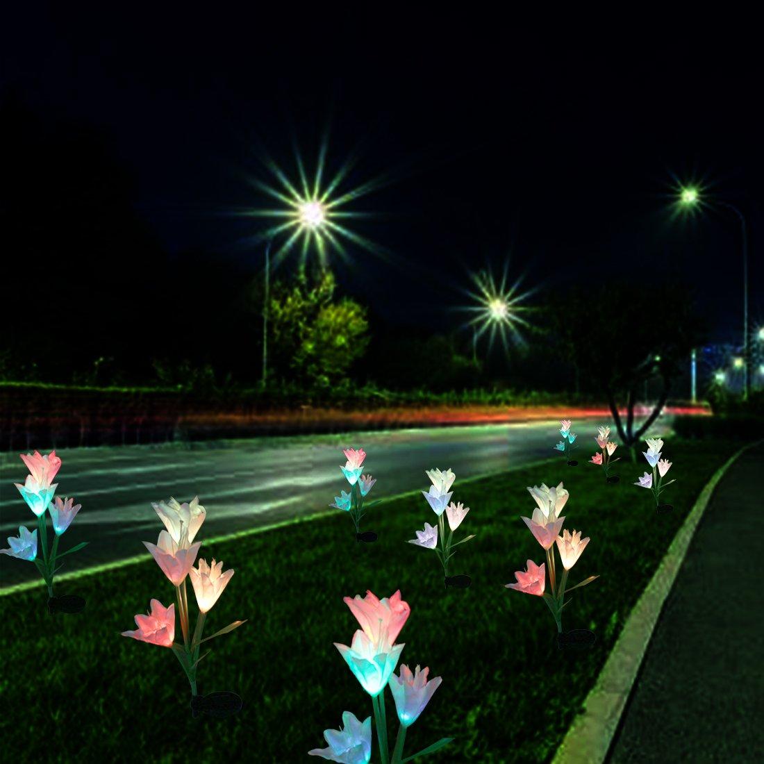 Tuipong - Juego Juego Juego de 2 luces solares de jardín con 8 ...