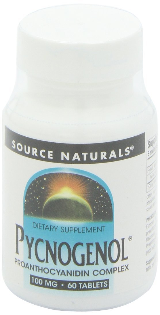 Source Naturals Pycnogenol 100mg, Antioxidant & Anti-Inflammatory Complex - 30 Tablets