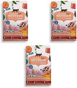 Rachael Ray Nutrish Indoor Complete Natural Dry Cat Food (3 Pack, Inner Health - Turkey Chickpeas & Salmon)