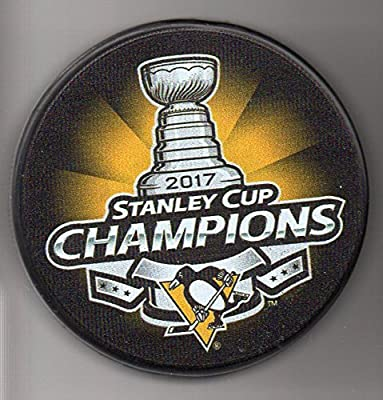 Pittsburgh Penguins 2017 Stanley Cup Champions Official NHL Puck + FREE Puck Cube