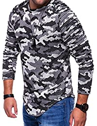 Men's Sweater Muscleshirt Sweatshirt Longsleeve Military C-9118
