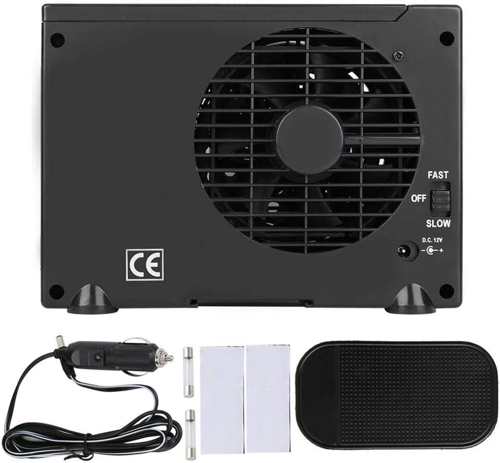 Mini enfriador de aire, ventilador de enfriamiento portátil de enfriador de aire de 12 V con aire acondicionado evaporativo de aire de hielo de 2 velocidades atemperador para el hogar, la oficina, el