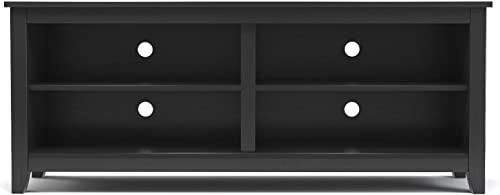 Gibson Living Mission 58 Inch Wood TV Console in Black