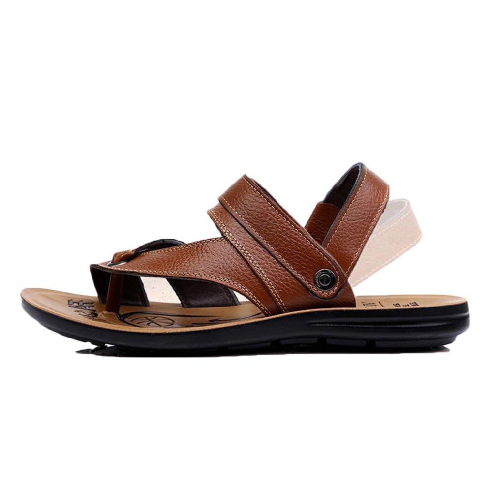 JPFCAK Sommer Herren LederSandale Wandern Wandern Reise Sandale Outdoor Sommerschuhe Herrenwear Clip Toe   Herrenwear Sommerschuhe Beach Herrenschuhe Yellow bbe505
