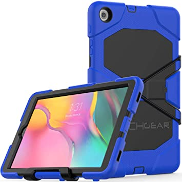 HoYiXi Samsung Galaxy Tab A 10.1 2019 Tablet Case Shockproof Tough Heavy-Duty Armor Case with Kickstand Anti-Drop Double Protective Cover for Samsung Galaxy Tab A 10.1 T510/T515 2019 Purple Tablet Accessories Computers & Accessories
