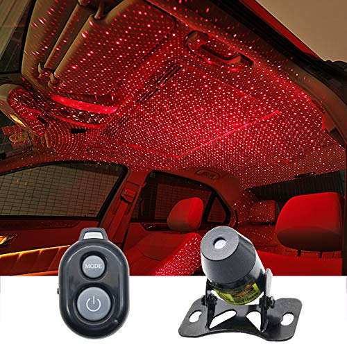 Auto interiors Roof Star Projector Lights With 3 Remote Control Modes, Star Effect USB Night Lamp Fit All Cars Ceiling Decoration Light Interior Ambient Atmosphere ...