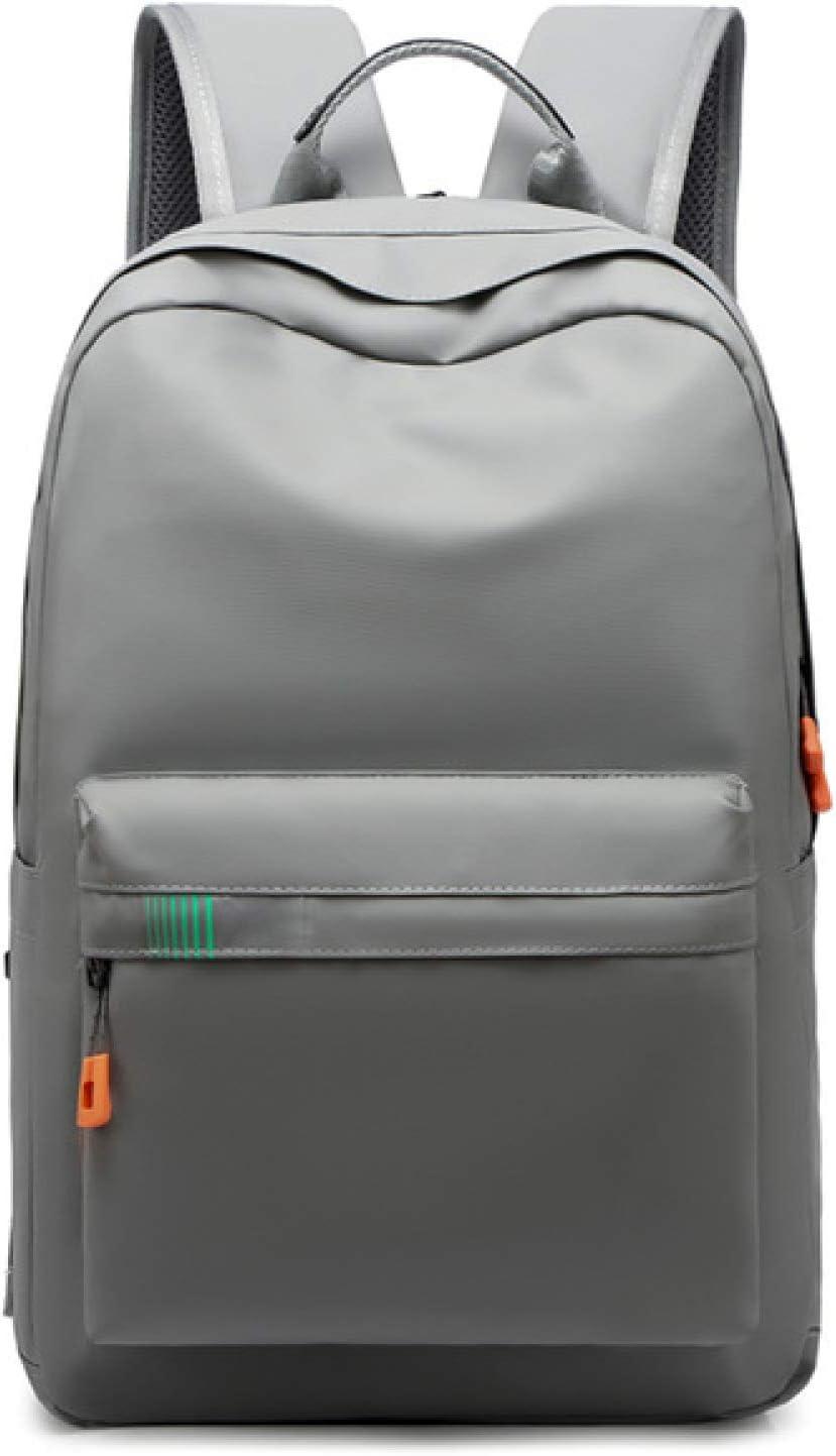 HUANGDANSEN Running Backpack Large Capacity Men's Solid Color Student Backpack School Bag Double Shoulder Zipper Backpack Handle School Bag