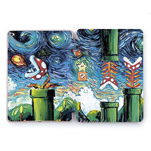 Wonder Wild iPad Pro 10.5 inch Case 12.9 Stand 2018 2017 | A1701 A1709 A1670 A1671 A1584 A1652 | 6th 5th Generation Smart Cover Mario Van Gogh Painting -