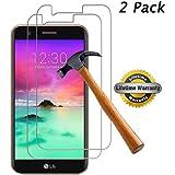[2-Pack] SKTGSLAMY for LG K30 Tempered Glass Screen Protector, LG K10 2018 Tempered Glass Screen Protector, Anti-Scratch, Anti-Fingerprint, Bubble Free, Lifetime Replacement Warranty (Clear)