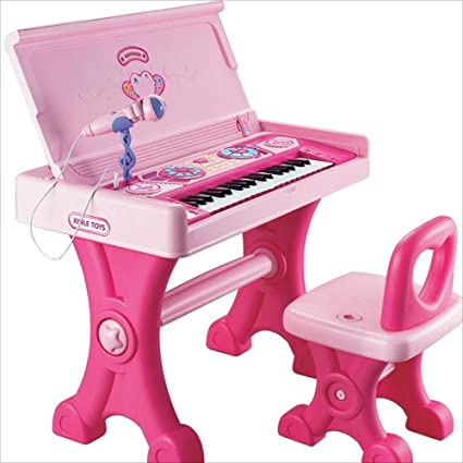 Brilliant Amazon Com Childrens Electronic Piano Girl Toy Study Table Download Free Architecture Designs Terchretrmadebymaigaardcom