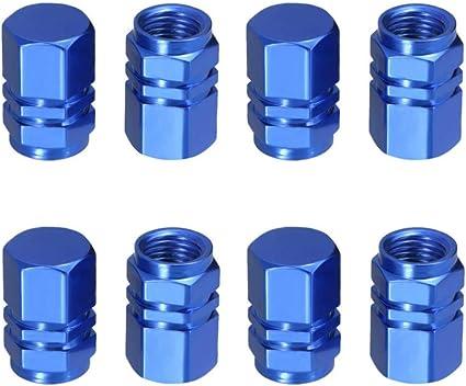 GOLD Brand new lightweight anodised aluminium valve caps for alloy wheels